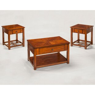 Loon Peak Cliffo 3 Piece Coffee Table Set