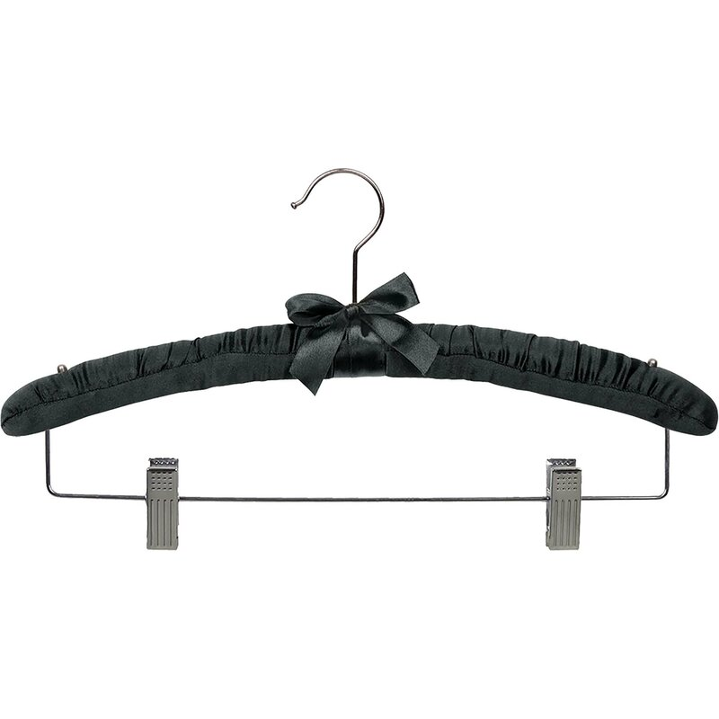 Rebrilliant Satin Padded Hanger With Clips Wayfair