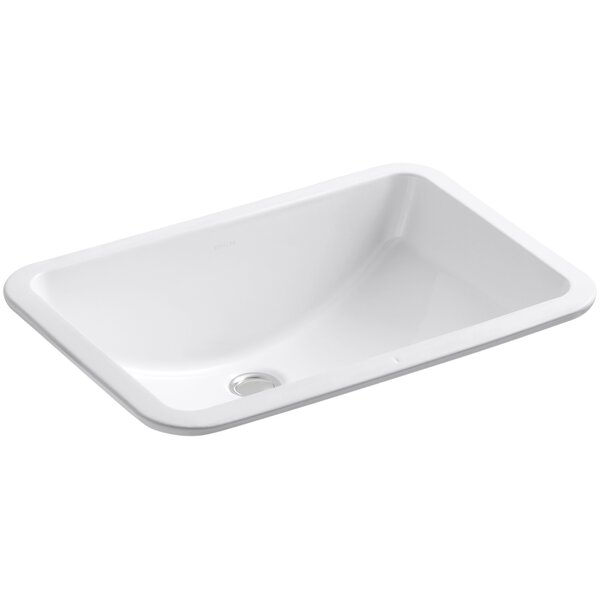 Kohler Ladena Ceramic Rectangular Undermount Bathroom Sink With Overflow U0026  Reviews | Wayfair