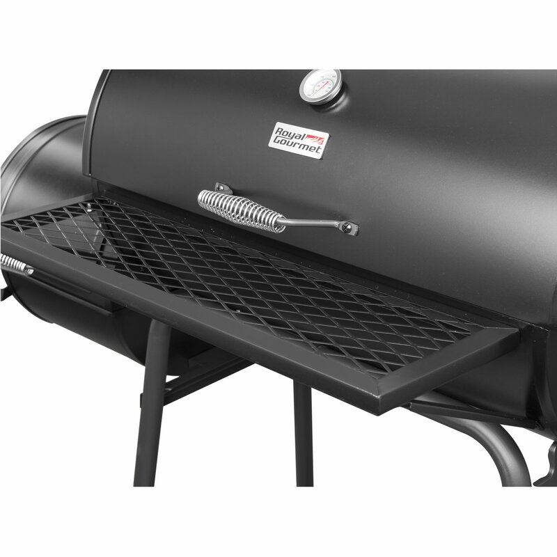 26 Barrel Charcoal Grill With Smoker