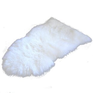 Looking for Love Sheepskin White Area Rug By Union Rustic