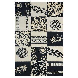 Check Prices Wool Hand-Tufted Ivory/Black Area Rug By Eastern Weavers