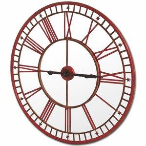 saranilla round oversized wall clock