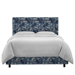 Taniya Border Linen Upholstered Panel Bed