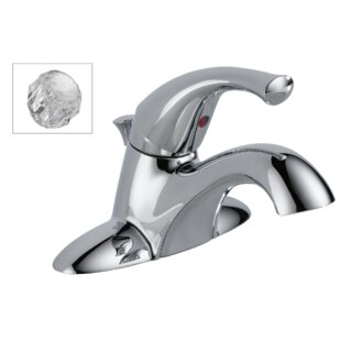 Centerset Bathroom Faucet with Drain Assembly and Diamond Seal Technology