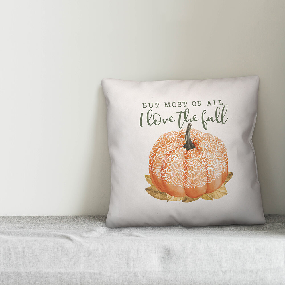 The Holiday Aisle Sabra But Most Of All I Love The Fall Boho Pumpkin Throw Pillow Cover Wayfair