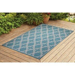 Sauceda Turquoise Indoor/Outdoor Area Rug