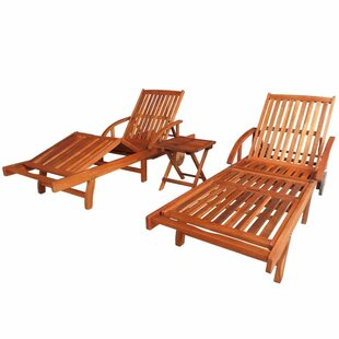 Eoin Sun Lounger Set With Table By Sol 72 Outdoor