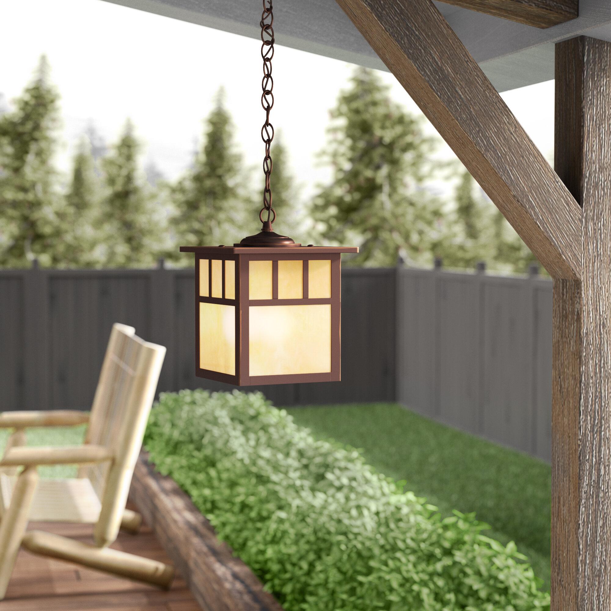 Loon Peak Joelle 1 Bulb Outdoor Hanging Lantern Reviews Wayfair