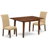 Mclachlan 3 Piece Extendable Solid Wood Dining Set by Canora Grey