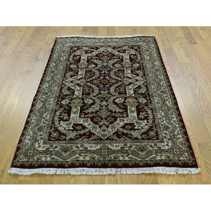 Rudolph New Zealand 300 Kpsi Hand Knotted Wool Blue Green Black Area Rug