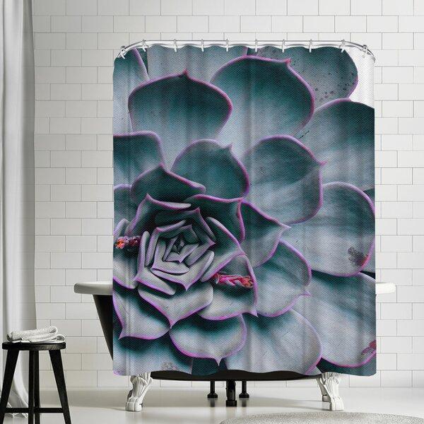East Urban Home Nauda Succulent Close Up Shower Curtain Wayfair