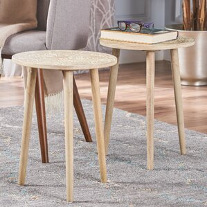 Appenzell End Table (Set of 2) by Bungalow Rose