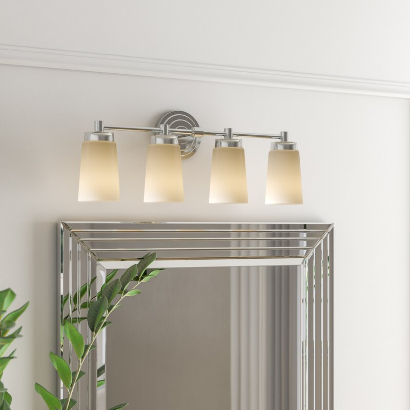 Ebern Designs Figueroa 4 Light Dimmable Vanity Light Reviews Wayfair