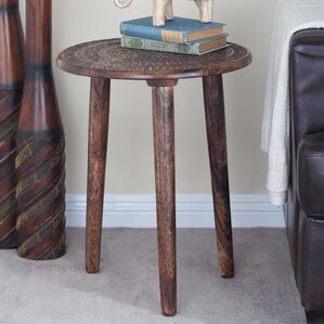 Wood Tripod Round End Table by Cole & Grey