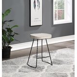 Ehsan Swivel Solid Wood 25 Counter Stool by Gracie Oaks