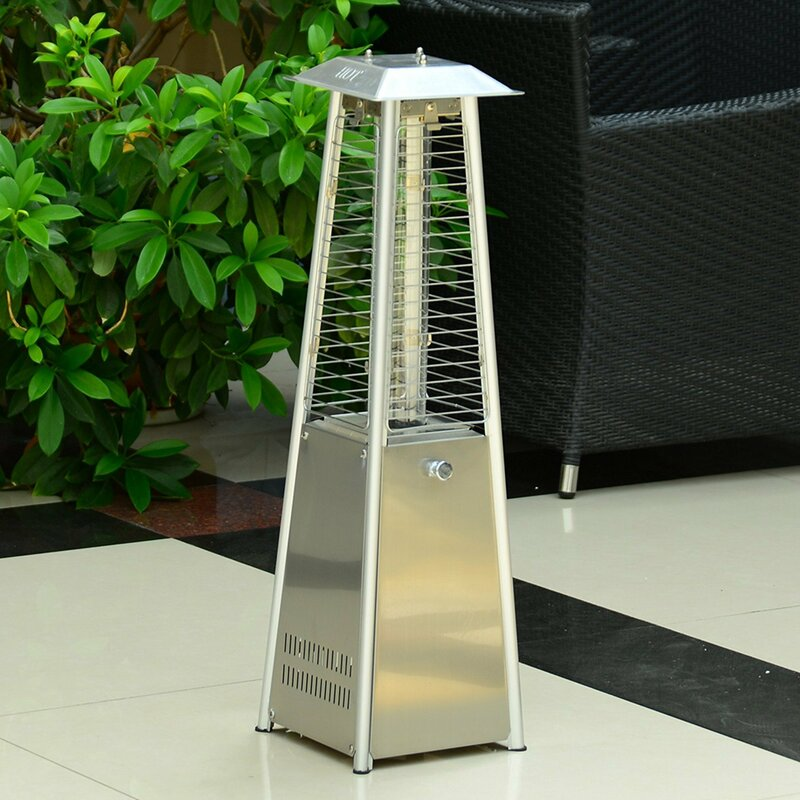outdoor belleze tube patio heater commercial glass circle pdx pyramid btu propane home