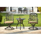 Battista 3 Piece Bistro Set with Cushions