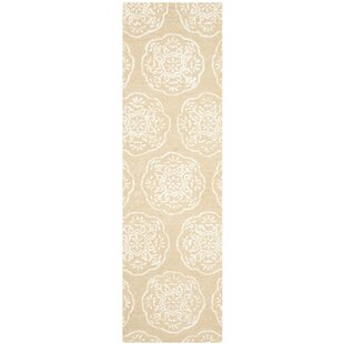 Rudra Beige/White Area Rug by Bungalow Rose