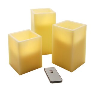 3 Piece Uncented Flameless Candle Set (Set of 3)
