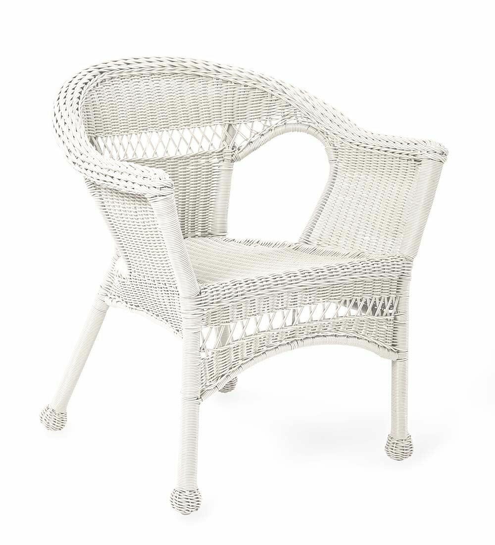 Plow U0026 Hearth Easy Care Resin Wicker Chair U0026 Reviews | Wayfair