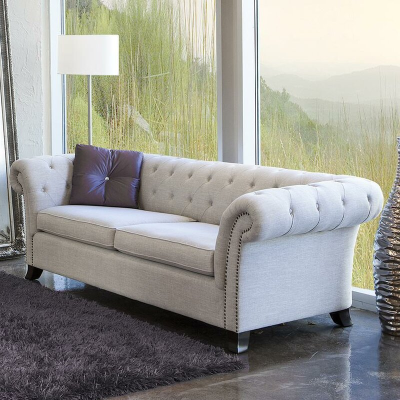 Sse Woven Fabric Chesterfield Sofa