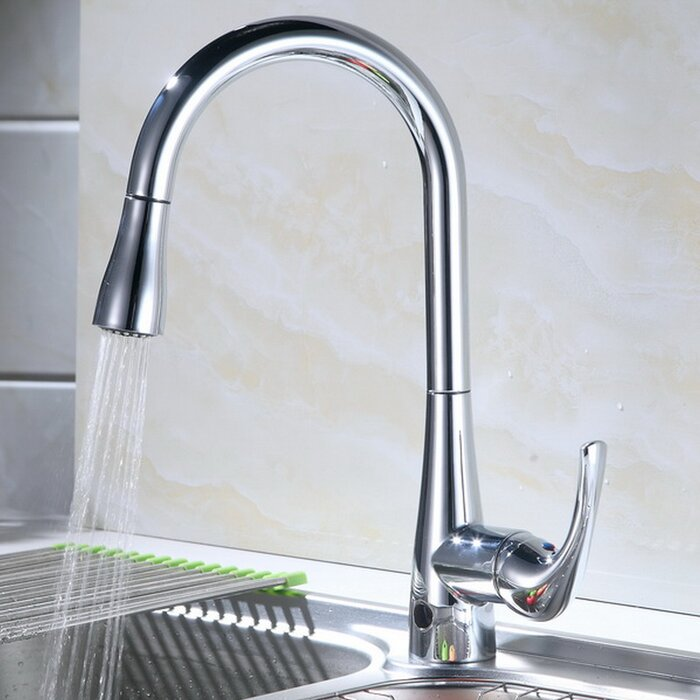 Pull Down Touchless Single Handle Kitchen Faucet
