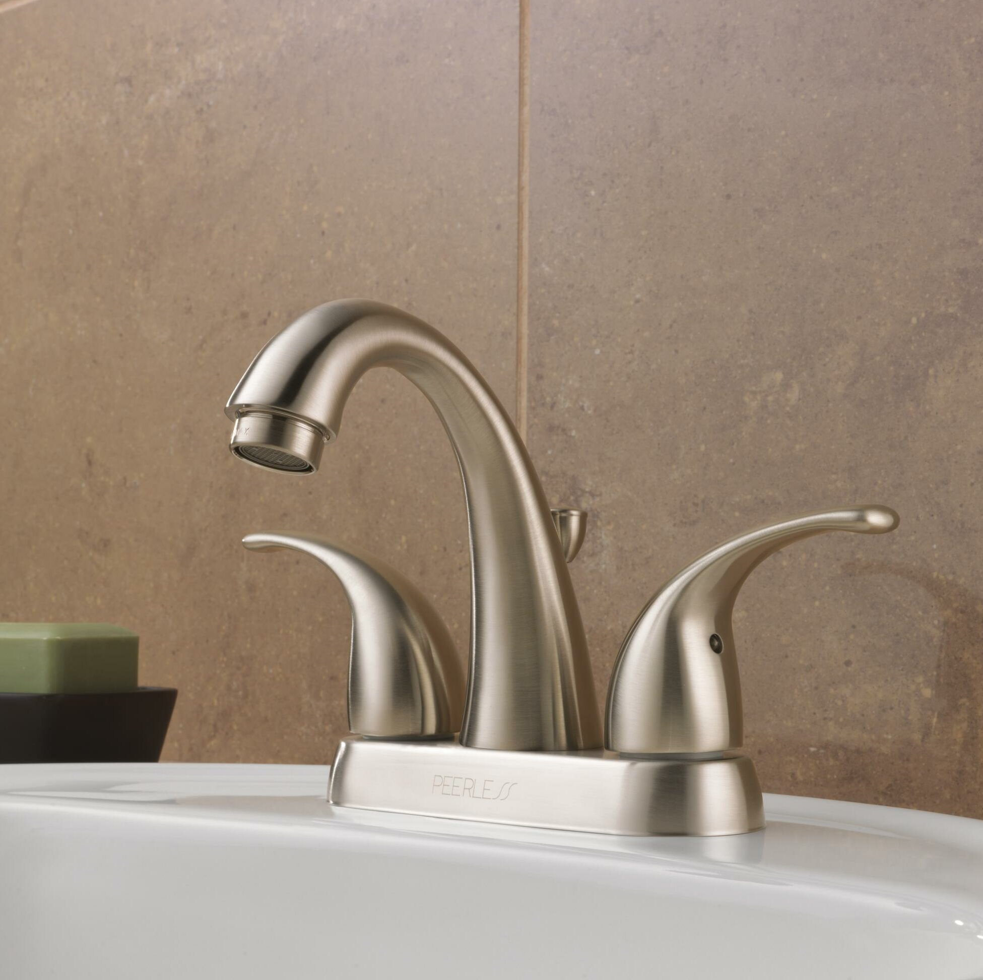 Centerset Bathroom Faucet with