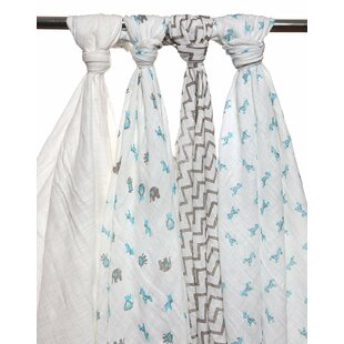 Best Choices Daleville 4 Piece Organic Cotton Baby Blankets By Harriet Bee