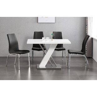 Riddleville Dining Set With 4 Chairs By Wade Logan
