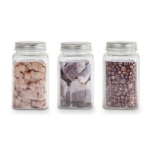 3 Piece Coffee Tea And Sugar Jar Set