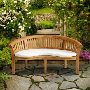 Means Outdoor Teak Garden Bench by Rosecliff Heights