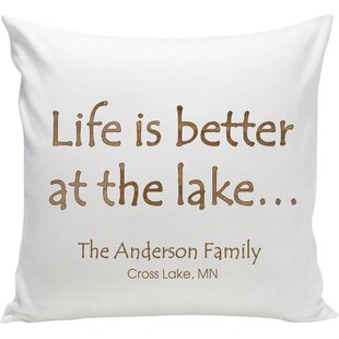 Personalized Cabin At the Lake Throw Pillow