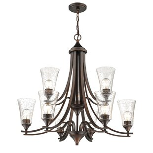 Charlton Home Elaina 9-Light Shaded Chandelier