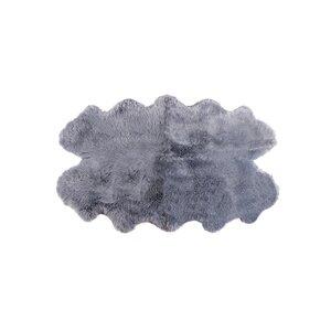 Oma Hand-Woven Sheepskin Gray Area Rug