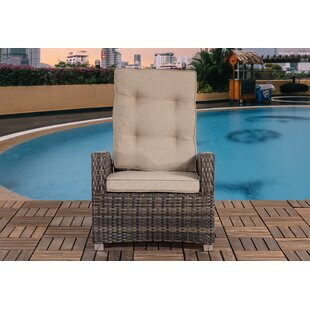 Highland Dunes Adcock Outdoor Patio Chair with Cushion