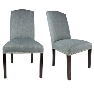 Sole Designs SL3004 Camelback Upholstered Parsons Chair (Set of 2)