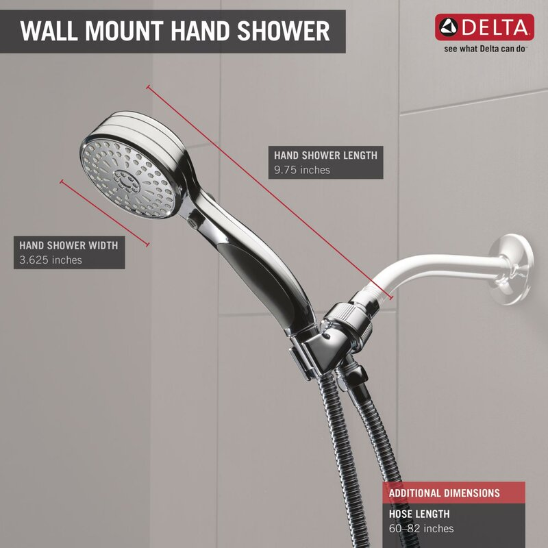 Universal Showering Components Classic Multi Function Handheld Shower Head  With ActivTouch