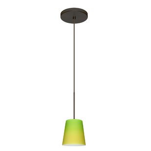Canto 1 Integrated Bulb Mini Pendant by Besa Lighting