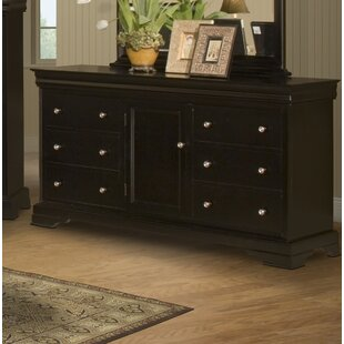 Best Reviews Jarvis 6 Drawer Combo Dresser by Alcott Hill