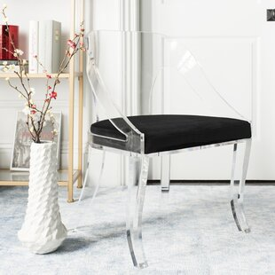 Annloraine Lucite Upholstered Dining Chair