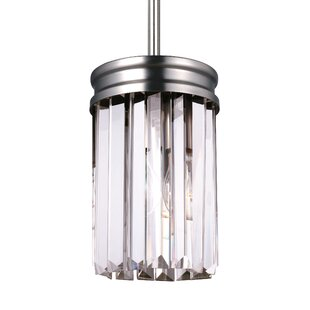 Willa Arlo Interiors Domenique 1-Light Crystal Pendant