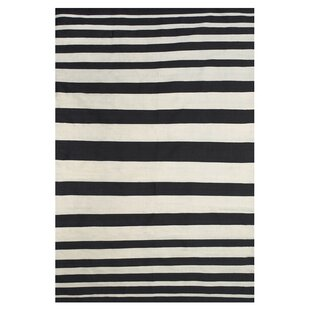 Iver Hand-Loomed Black/White Indoor/Outdoor Area Rug