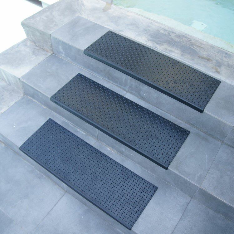 "rubber-cal, inc. ""diamond-plate"" step non-slip rubber stair tread"