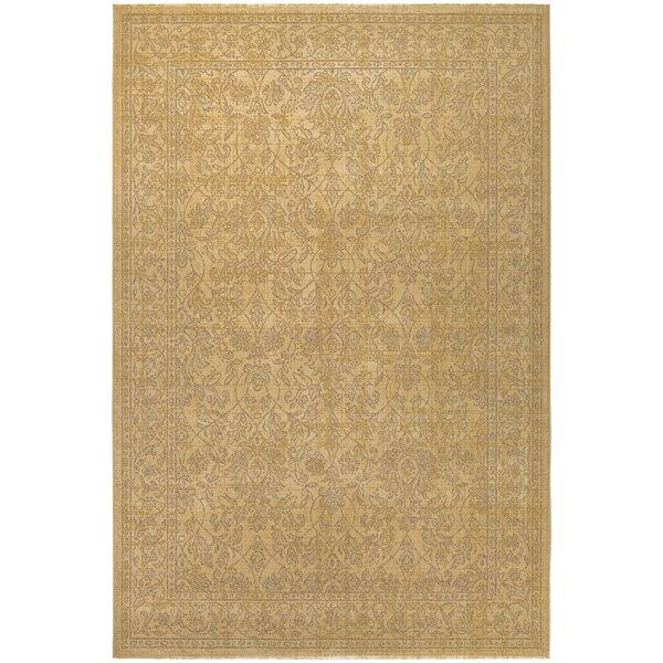 Charlton Home Anheuser Tan/Gold Area Rug U0026 Reviews | Wayfair