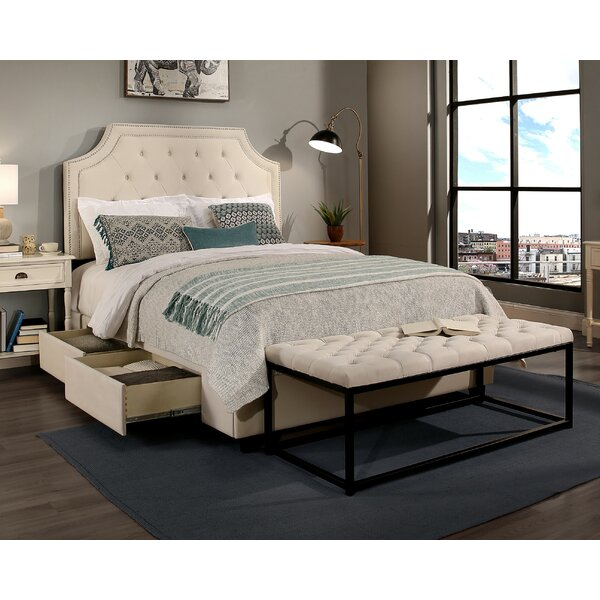 RepublicDesignHouse Audrey Upholstered Panel Headboard and Bench ...