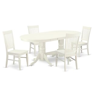 Lomond 5 Piece Extendable Solid Wood Dining Set