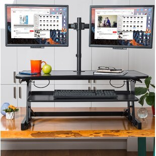 Rocelco DADR Height Adjustable Sit to Standing Desk Riser and Converter 37