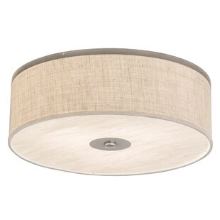 Rosecliff Heights Luyster 3-Light Outdoor Flush Mount