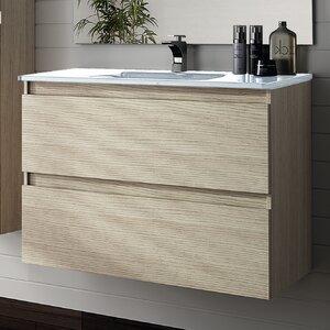 Linebath 101,5 cm Wandmontierter Waschtisch Essence